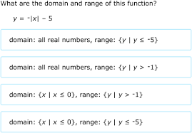 Range And Domain Ixl Domain And Range Of Absolute Value Functions Equations