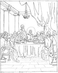Small Picture Free Coloring Page The Last Supper Schola Rosa Co op Home