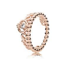 my princess tiara ring pandora rose clear cz