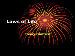 laws of life essay contest announcing the contest stress contest 1 laws of life essay contest