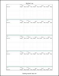 Exercise Tracker Template Bodybuilding Workout Log Template Exercise
