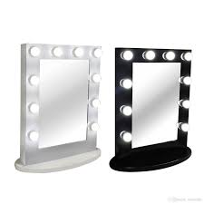 Hot Item Wholesale Makeup Hollywood Style Bulbs Led Mirror Vanity Makeup Mirror With 10 Lights