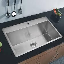 Shop 33x22 Single Bowl 16g Ss Drop In Kitchen Sink Free Shipping