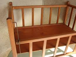 Antique Baby Cribs Vintage Rustic Cottage Chic Wood Baby Doll Crib 1940s 1950s