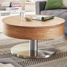 suva round wooden storage coffee table