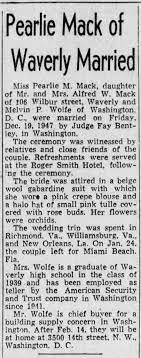 Mack, Pearlie & Wolfe, Melvin P vows 1948 ** - Newspapers.com