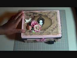 Decorating Cigar Boxes Burlap Covered Cigar Box Craft Room Storage YouTube 34