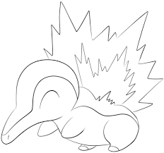 Small Picture Cyndaquil coloring page Free Printable Coloring Pages