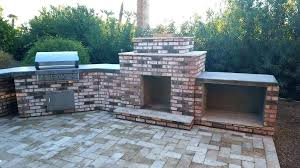 outdoor fireplace brick oven combo phoenix landscaping dream home ideas pizza smoker and bbq f pizza oven smoker