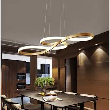 Led Pendant Light 58w Height Adjustable Acrylic And Aluminum Hanging