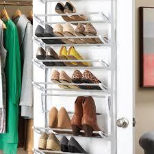 ... Rack, Over The Door Shoe Rack Storage Solutions Ideas: Cool Over The  Door Shoe ...