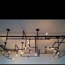 cool light fixture in meeting room