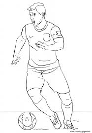 Soccer Coloring Pages Messi Awesome Simple Design Decor Free