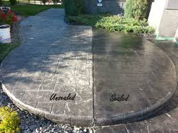 concrete sealer before and after how to seal concrete patio l59
