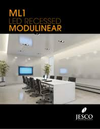 specifications jesco lighting ml1 led modulinear brochure