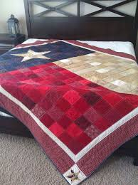 Best 25+ Texas quilt ideas on Pinterest | Quilt shops, Yo yo quilt ... & Texas Flag Quilt -- similar to the backing of the Texas quilt I made with  embroidery and appliqué on the front! Adamdwight.com