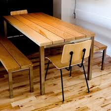 gus modern plank dining table. gus* modern | stanley dining table \u0026 bench, school chair http:// gus plank