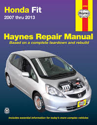 2013 honda fit wiring diagram 2013 image wiring honda fit 07 13 haynes repair manual haynes manuals on 2013 honda fit wiring diagram