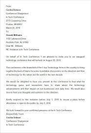 free conference invitation letter format