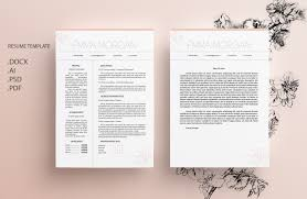 Sakura Resume Template Cv Template Letterhead Sky Simple Resume