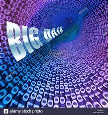 Digital Tunnel Big Data Funnel Information Flow 3d Illustration Shows A