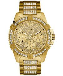 guess men s crystal gold tone stainless steel bracelet watch 46mm guess men s crystal gold tone stainless steel bracelet watch 46mm u0799g2