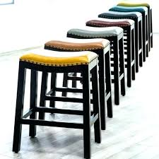 gray leather counter height bar stools in saddle grey sto