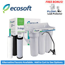 ecosoft ecosoft 3 stage under sink water filter br part fmv3ecoexp