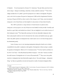 undergraduate thesis the moral panic of u s immigration
