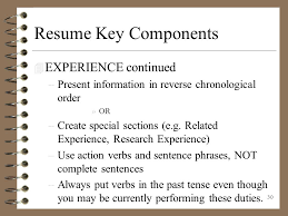 Awesome Collection Of Special Resume Complete Sentences Excellent