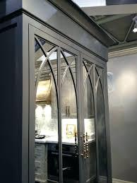 antique mirror mercury glass panels antiqued brunch with fine cabinetr
