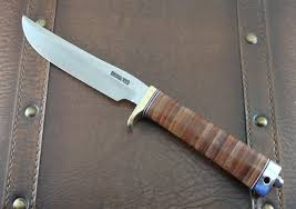 randall model 7 5 fisherman hunter with stacked leather handle new graham knives