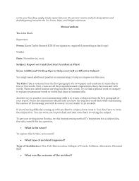 Write An Incident Report Barca Fontanacountryinn Com