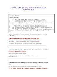 Ccna 2 V5 0 Routing Protocols Final Exam Answers 2014 Routing