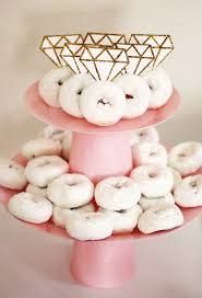 pink tiered cake stand