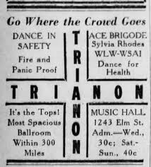 Trianon Ballroom in Music Hall WLW-WSAI Ace Brigode & Sylvia Rhodes Dance  for Health - Newspapers.com