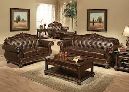 traditional sofas living room furniture. Fine Traditional Dark Brown Top Grain Leather Traditional Sofa WOptional Items To Sofas Living Room Furniture A
