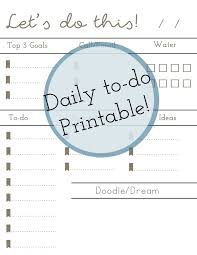 Printable Daily Things To Do List Download Them Or Print