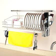 wall mount dish drainer stainless steel dish rack wall rack wall mounted bowl rack chopsticks cage drain rack shelf wall mounted plate rack ikea wall