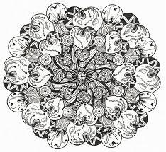 Disegno Da Colorar Antistress San Valentino Mandala Cuori 4