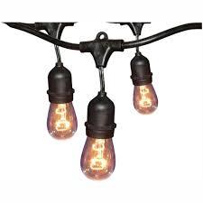 Black Outdoor String Lights Details About Hampton Bay String Lights Outdoor Decor Holiday 12 Light 24 Ft Black Commercial