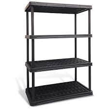 new blue hawk 4 tier plastic freestanding shelving storage rack shelf organizer