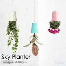 office decoration items. 4 colors 48pcscarton sky planter hanging flower pot upsidedown plant home office shop mall decoration novelty item brand new items r