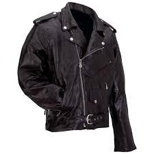 men s rock design genuine buffalo leather motorcycle jacket classic biker style