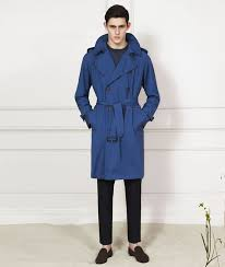 men s aquascutum cobalt blue trench coat