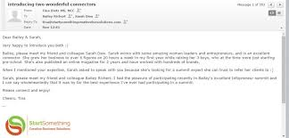 email introduction sample warm email introduction sample startsomething creative business