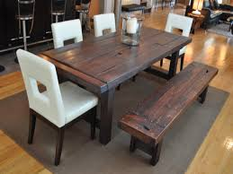 rustic kitchen table with bench. Cozy Inspiration Rustic Dining Table With Bench 1 Kitchen H