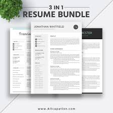 2019 Best Selling Resume Bundle The Jonathan Rb Job Resume Templates Modern Cv Design Cover Letter Word Resume Professional Clean Resume Instant
