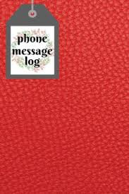 Phone Message Log Book Phone Message Book Phone Log Book Telephone Memo Journal Notebook Log Track Monitor Phone Calls Voice Mail 6