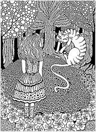 Un Coloriage Tr S Complexe Inspir Par Alice Aux Pays Des